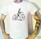 Victorian Walking Bicycle Engraving T-Shirt Victoriana Cycling