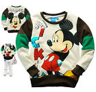 Girls Boys Kids Children mickey mouse jacket jumper Top sweater long sleeve