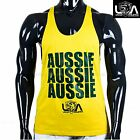 AUSSIE PRIDE GYM SINGLET ZYZZ Stringer Tank top mens t back y singlets muscle