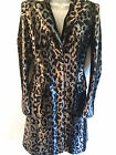 Karen Millen Coat Ladies leopard Animal Print Pony Faux Fur Winter CR069 Size UK