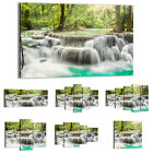 47 Shapes Canvas Picture Print Wall Art Landscape Waterfall Stream Forest 2458 E
