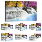 47 Shapes Canvas Picture Print Wall Art Landscape Waterfall Nature Forest 2446 E