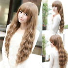 Fashion New Womens Long Wavy Curly Hair Full Wigs Girls Cosplay Party Dress Wig