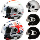 VIPER RS-V18 RSV18 Motorcycle Motorbike Open Face Helmet with Built-in Sun Visor