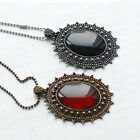 Vintage Retro Womens Imitation Amber Style Long Chain Necklace Costume Jewellery