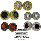 MENS ICED OUT 15MM 14K GOLD FINISH FULL MICRO PAVE CZ HIP HOP STUD EARRINGS