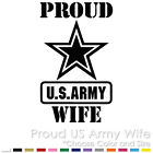 PROUD US ARMY WIFE MILITARY AIR FORCE PARENTS CUSTOM VINYL DECAL STICKER