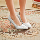 Glitter Ladies Evening Party Pumps Dress Shoes Womens High Stiletto Heels Shoes