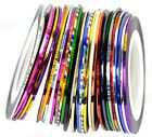 Hot 20Pcs Mixed Colors Rolls Striping Tape Line Nail Art Tips Decoration Sticker