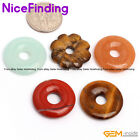30mm Natural Round Donut Ring Stone For Jewelry Making Necklace Pendant Gemstone