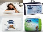 SILENTNIGHT DUVETS HOLLOWFIBRE ANTI ALLERGY EGYPTIAN COTTON - ALL SIZES + TOGS