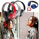 Adjustable Over-Ear Earphones Headphone 3.5mm for iPhone Samsung HTC Laptop PC D