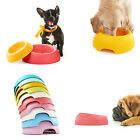 1×Brand New 2 Size Color Plastic Splashproof Dishes Bowls for Pet Random Color