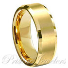 Tungsten Carbide Wedding Band Ring Brushed Silver Mens Jewelry Size 6-15   Half