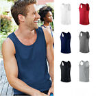 5 Pack Gildan Men's Ringspun Softstyle Cotton Sleeveless T-Shirt Tank Top Vest