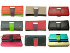 Full Grain Genuine Leather RFID Protected 20+ Card Holder Women Long Wallet New
