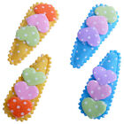 Hair Clips Baby Hair Slides Heart Polka Dot Girl Hair Accessory Set of 2