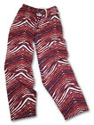Zubaz Pants: Red/Blue Zubaz Zebra Pants- New