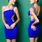 Hot Womens Sexy backless Mini / Short Cocktail Prom Party Ball Evening Dress S M