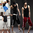 Men's Capri Pants Sweat Sports Shorts Hip-hop Dancing Jogging Casual Trousers