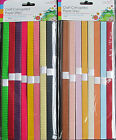 Pack of 40 Craft Corrugated Paper Strips for Card Making -Choice of Colours