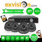 8 Channel Qvis DVR Hard Drive 4 X 800TVL CCTV Camera Outdoor package recorder