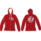 Marc Marquez 93 Moto GP Womens Hoodie Fleece Red Official New