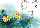 Floral Flower Artwork - Flower Abstract Wall Decal - Nature Artwork - Interior