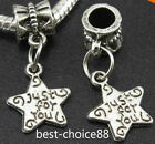 10PCS Tibetan Silver Charms Pendant Dangle Beads Fit European Bracelet 35 Style