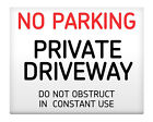 """NO PARKING Private Driveway Metal Sign 8x10"""" Access Business Premises Safety #33"""