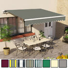 4 x 3m Manual Awning Patio Garden Canopy Sun Shade Retractable Shelter New