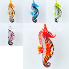 NEW Dichroic Glass Lampwork Sea Horse Bead Pendant Charm BW009