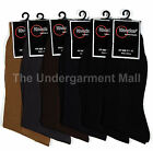 12 pairs lot mens ribbed dress socks multi-color casual fashion size 9-11 10-13