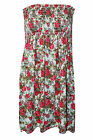 SEXY WOMEN LADIES FLORAL FLOWER PRINT BOOB TUBE DRESS MINI PARTY TOP