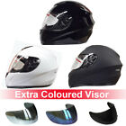 LEOPARD LEO-819 Plain Motorbike Helmet Full Face Motorcycle Crash + Sun Visor