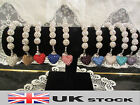 Hot Lovely Heart 18 Disco Crystal Shamballa Clay Ball Bracelets UK SELLER