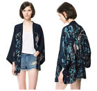 Womens Vintage Retro Ethnic Phoenix Loose Style Kimono Cardigan Jacket Coat Tops