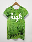 HIGH CANNABIS ALL OVER PRINT MARIJUANA WEED DRUGS T SHIRT MAN SWAG MEN GIRL