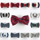 New Men Striped Plaid Hearts Pre-tied Clip-on Adjustable Bowtie Necktie Bow Tie