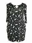 *NEW* Ladies Marina Kaneva  BLACK Tunic Top PLUS SIZES BLOUSE 16-32