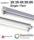 T8 Fluorescent Tube Batten Strip Light Fittings Single & Twin 2ft 4ft 5ft 6ft