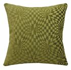 wg04a Olive Lime Geometric 3D Check Cotton Throw Pillow Case Cushion Cover*Size