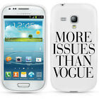 MORE ISSUES THAN VOGUE CASE FOR SAMSUNG S3 S4 S5 S3/S4 MINI S5830 FUNNY COVER