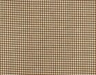 French Country Gingham Check Suede Brown Small Tootsie Roll
