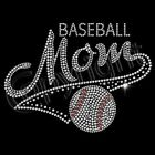 Baseball Mom Rhinestones Sweatshirt Hooded 50/50 Hoodie Bling Unisex Sweatshirts