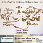 Cars Stickers Lightning McQueen  Mater Personalised Wall  Kid room mqma