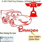 Lightning McQueen Stickers Cars Personalised Wall Pixar Vinyl Kid A4