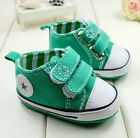 Green Baby Infant Toddler Soft Sole Crib Shoes Sneaker Age 6-15Months/B889