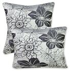 *Limit Stock*Mq02a Metallic Black Grey Lily Velvet Pillow Case Cushion Cover