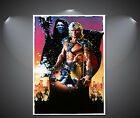 He Man And The Masters Of The Universe Vintage Movie Poster - A1, A2, A3, A4